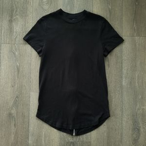 Longfit tshirt w/ back zipper